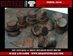 1-35-Crushed-and-Dented-German-Fuel-Drums-WWII-10-resin-pcs-