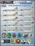 1-48-Colorful-Gray-and-White-Cougars-includes-options-for-seven-F9F-8-single-seat
