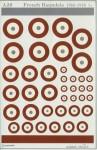 1-72-French-WWI-National-Insignia-Roundels-various-sizes
