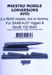 1-72-Rb05-missile-for-SAAB-AJ37-Viggen-2-pcs-