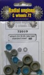 1-72-B-29-wheels-set-late-diamond-tread-ACAD