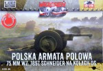 1-72-Schneider-75mm-Polish-Field-Cannon-DS-wheels