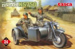 1-24-GERMAN-MOTORCYCLE-ZUNDAPP-KS750-w-SIDECAR