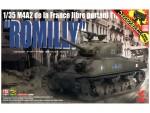1-35-M4A2-de-la-France-Libre-Portant-L-inscription-Romilly-Limited-Edition-w-Hedgerow-Cutter