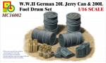1-16-W-W-II-German-20L-Jerry-Can-and-200L-Fuel-Drum-Set-
