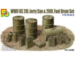 1-16-US-WWII-20L-Jerry-Can-and-200L-Fuel-Drum