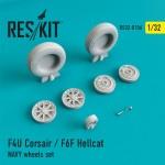 1-32-F4U-Corsair-F6F-Hellcat-NAVY-wheels-set-REV