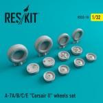 1-32-A-7-Corsair-II-A-B-C-E-wheels-set