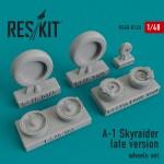 1-48-A-1-Skyraider-late-wheels-set-HASTAMREV