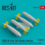 1-48-1000-lb-free-fall-bomb-checks-4-pcs-