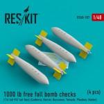 1-48-1000-lb-free-fall-bomb-checks-4-pcs-