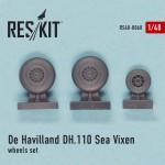 1-48-DH-110-Sea-Vixen-wheels-set-AIRFIX