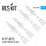 1-72-R-27-RT-soviet-missile-4-pcs-Mig-29-Su-27-30-32-33-35-37