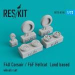 1-72-F4U-Corsair-F6F-Hellcat-Land-based-wheels-set