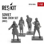 1-48-Soviet-Tank-Crew-Set-WWII-4-fig-