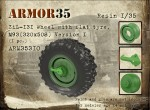 1-35-ZiL-131-Wheel-with-flat-tyre-M93-Version-I1pc