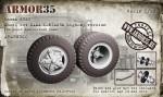 1-35-Kamaz-5320-Wheel-set-KAMA-I-N142BM-highway-version-10-pcs-+1-spare-+-front-beam
