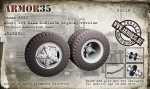 1-35-Kamaz-5320-Wheel-set-KAMA-I-N142BM-highway-version-10-pcs-+1-spare-+-front-beam
