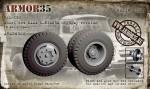 1-35-ZiL-130-Wheel-set-KAMA-I-N142BM-highway-version-6-pcs-+1-spare-