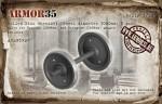 1-35-Rolled-Disc-Wheelset-Wheel-diameter-1050mm-2-pcs-