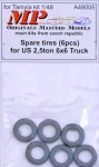 1-48-Spare-tires-for-US-25t-6x6-truck-6-pcs-