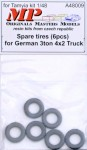 1-48-Spare-tires-for-German-3t-4x2-truck-6-pcs-