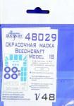 1-48-Beechcraft-Model-18-C-45-Paint-mask-ICM
