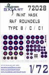 1-72-RAF-Roundels-Type-B-C-C1-Painting-Mask