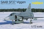 1-72-SAAB-SF37-Viggen-Swedish-AF-Reccon-3x-camo