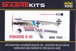 1-72-Fokker-E-III-6-decal-version-100-model-limited