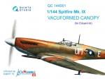 1-144-Vacu-canopy-for-Spitfire-Mk-IX-3-pcs-EDU