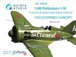 1-48-Vacu-canopy-for-Polikarpov-I-16-3-pcs-